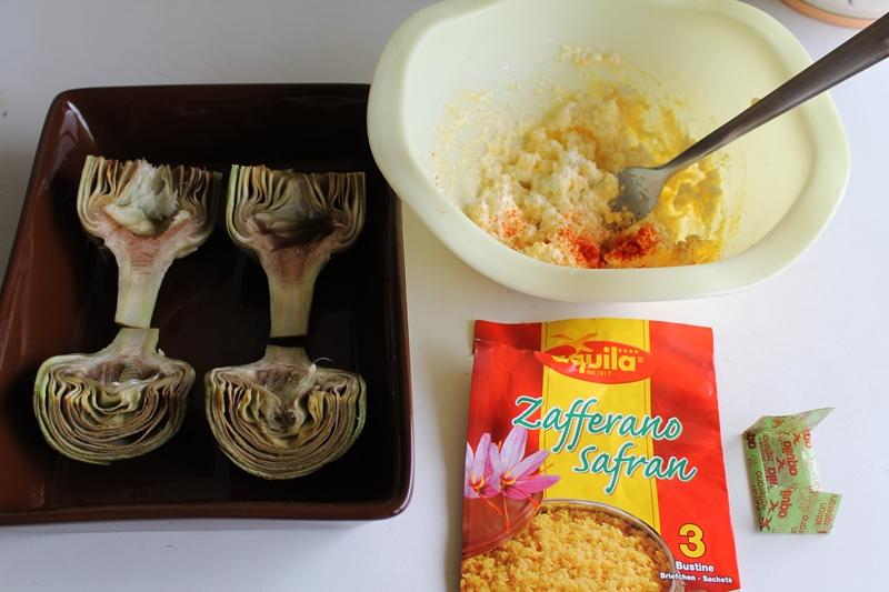 Carciofi allo zafferano per il 100% GFFD - La Cassata Celiaca