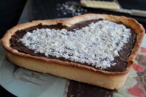 Tarte avec caramel et ganache au chocolat sans gluten - La Cassata Celiaca