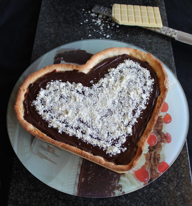 Crostata con caramello e ganache al cioccolato - La Cassata Celiaca