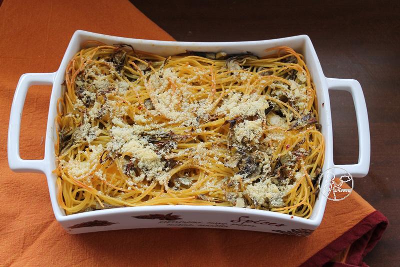 Gratin de spaghettis et artichauts sans gluten - La Cassata Celiaca