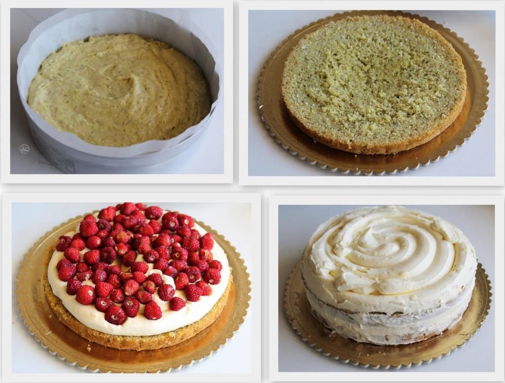 Gâteau avec chantilly et fraises de bois sans gluten - La Cassata Celiaca