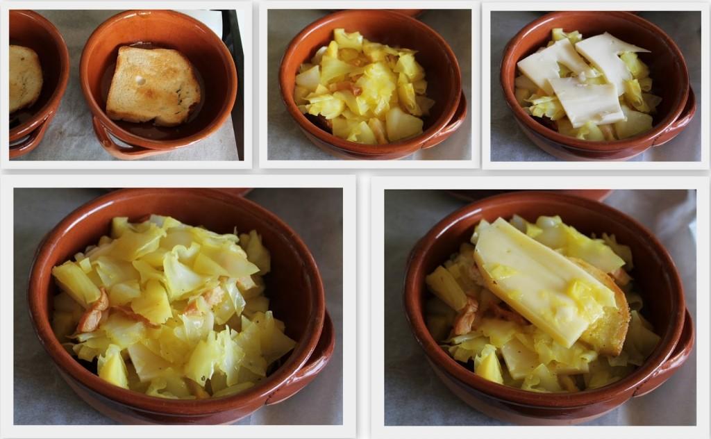 Gratin de cabus avec bacon, safran et fromage fontina - La Cassata