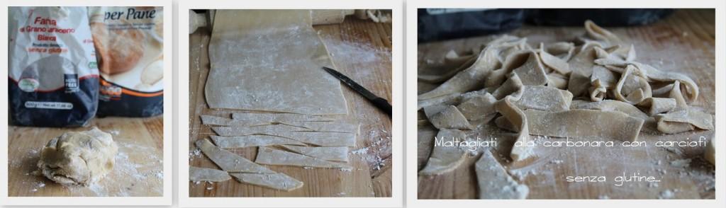 """Pâtes """"maltagliati"""" à la carbonara d'artichauts sans gluten - La Cassata Celiaca"""
