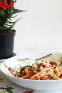 Pici avec huile, ail et piment sans gluten - La Cassata Celiaca