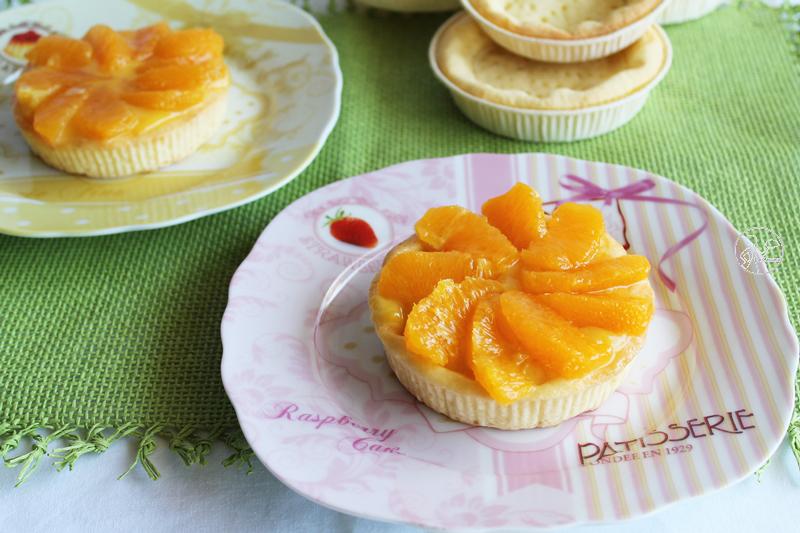 Tartelettes avec orange curd et oranges sans gluten - La Cassata Celiaca