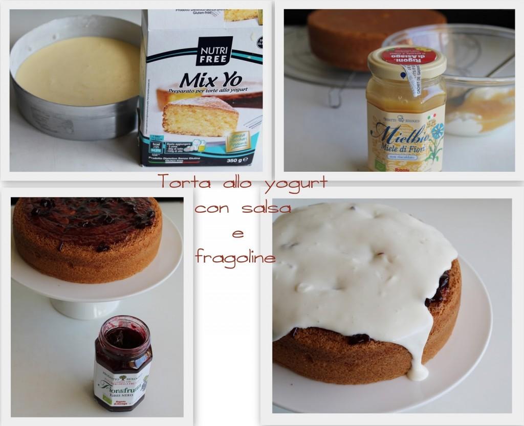 Torta allo yogurt con salsa allo yogurt e fragoline - La Cassata Celiaca