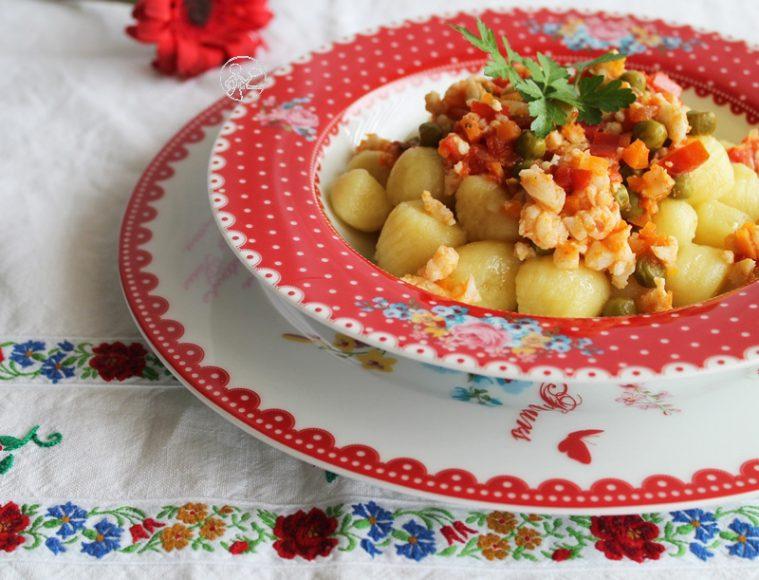 Gnocchi di patate con ragù di pesce - La Cassata Celiaca