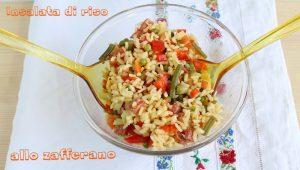 Insalata di riso allo zafferano senza glutine - La Cassata Celiaca