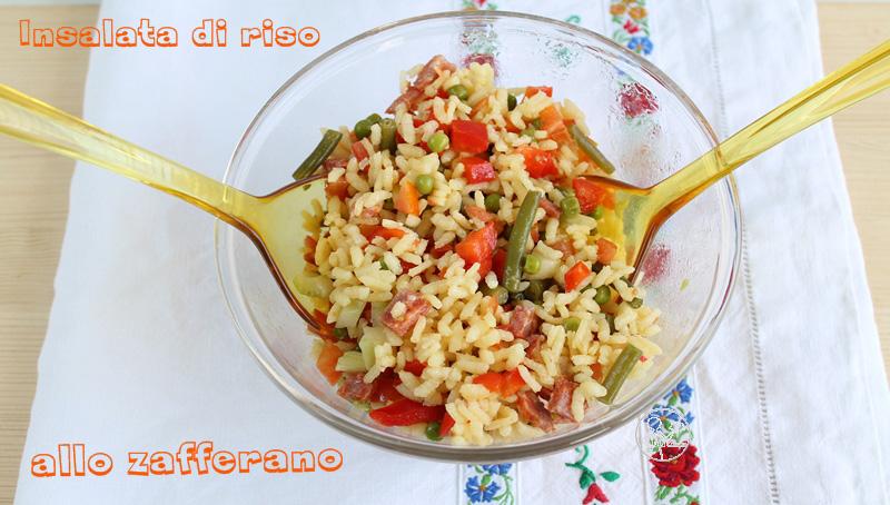 Salade de riz au safran sans gluten - La Cassata Celiaca