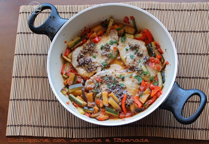 Escalopes avec légumes et tapenade - La Cassata Celiaca