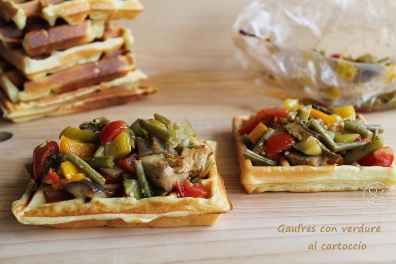 Gaufres salées sans gluten avec légumes en papillotes - La Cassata