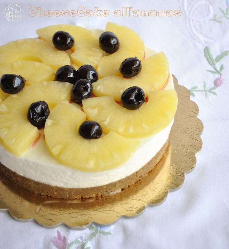 Cheesecake à l'ananas (sans gluten ni lactose) - La Cassata Celiaca