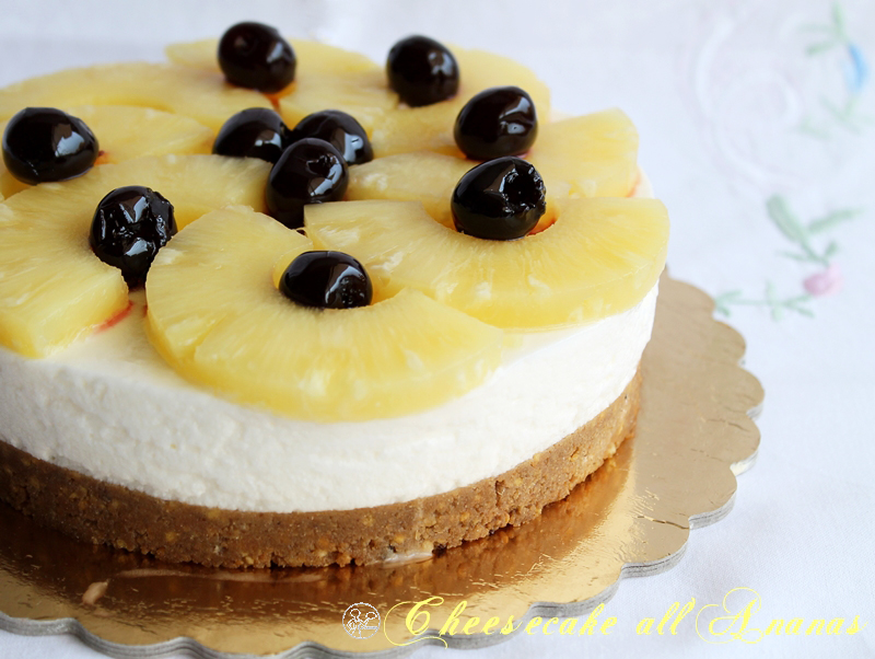 Torte fredda all'ananas (senza glutine e senza lattosio) - La Cassata Celiaca