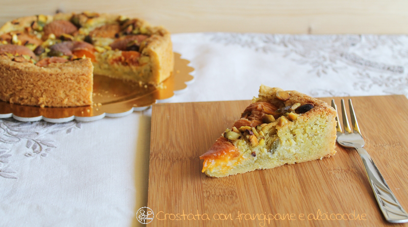 Crostata con frangipane e albicocche - La Cassata Celiaca