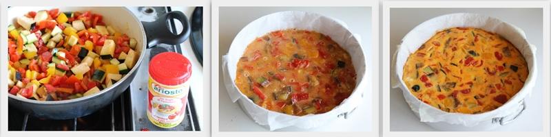 Frittata ortolana al forno con ciabatta senza glutine - La Cassata Celiaca