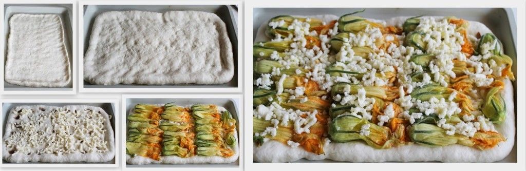 Pizza con i fiori di zucca (senza glutine) - La Cassata Celiaca