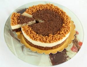 Cheesecake sans gluten au chocolat blanc - La Cassata Celiaca