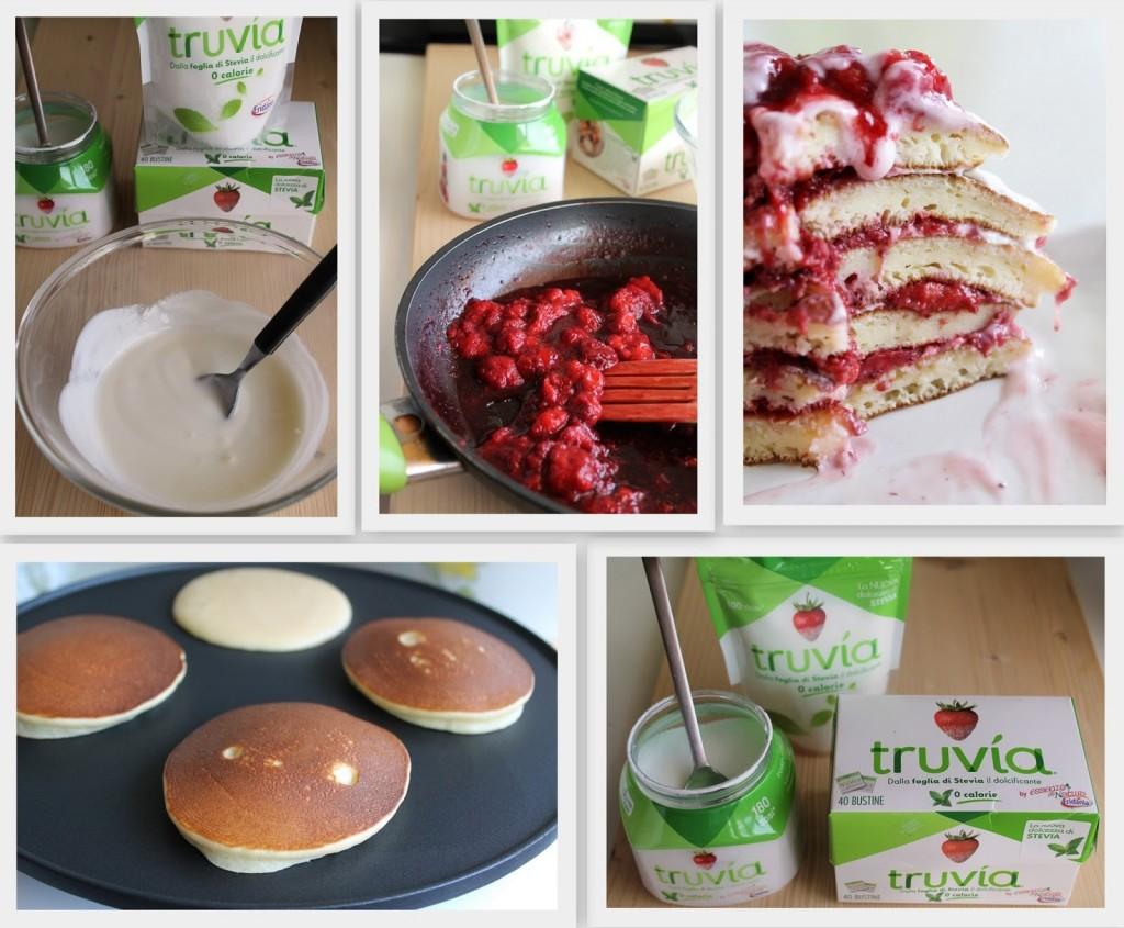 Pancakes con yogurt e coulis di fragole senza zucchero - La Cassata Celiaca