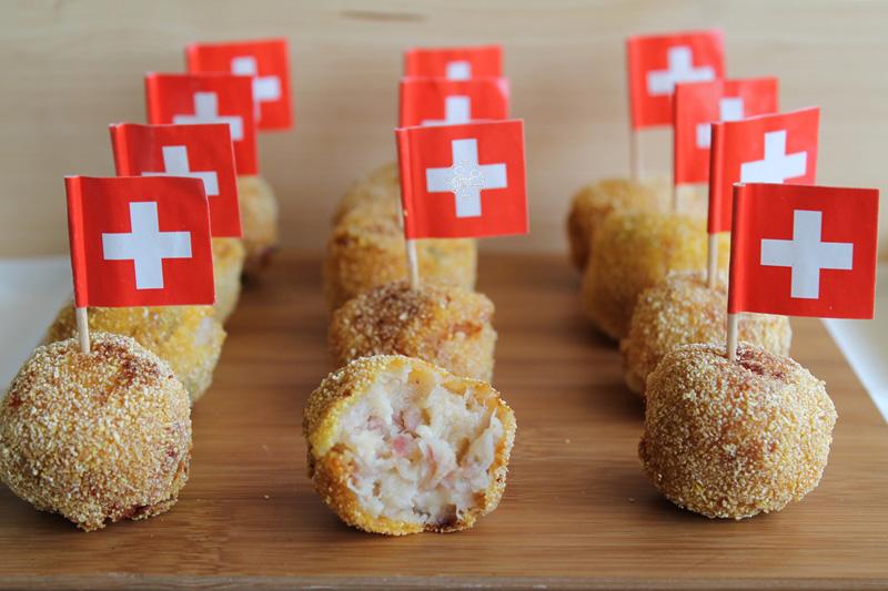 Polpettine di cavolfiore, pancetta e formaggio - La Cassata Celiaca