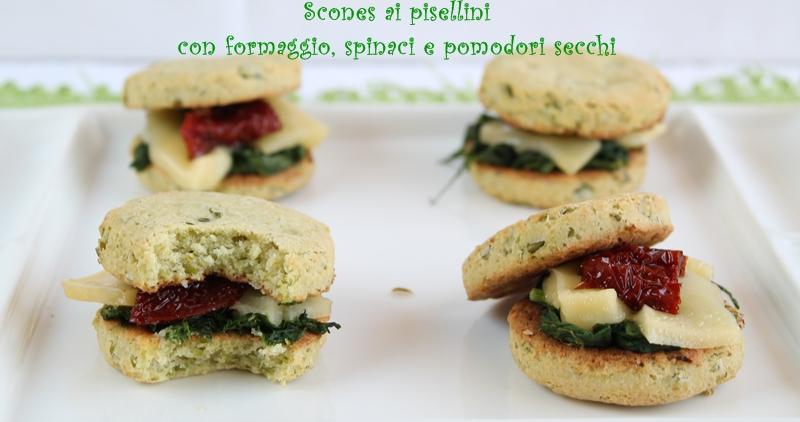 Scones ai pisellini con formaggio, spinaci e pomodori - La Cassata Celiaca