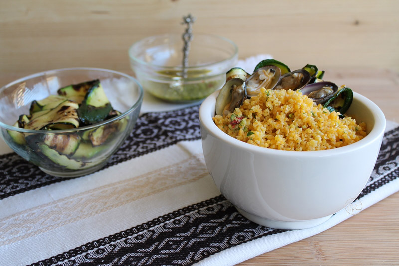 Cous Cous avec courgettes et palourdes (sans gluten) - La Cassata Celiaca