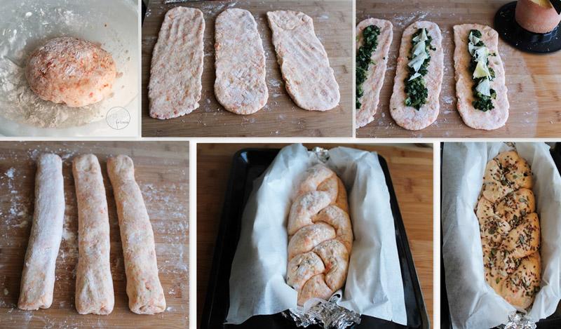 Treccia di pane alla zucca con bietole e Tête de Moine (senza glutine) - La Cassata Celiaca