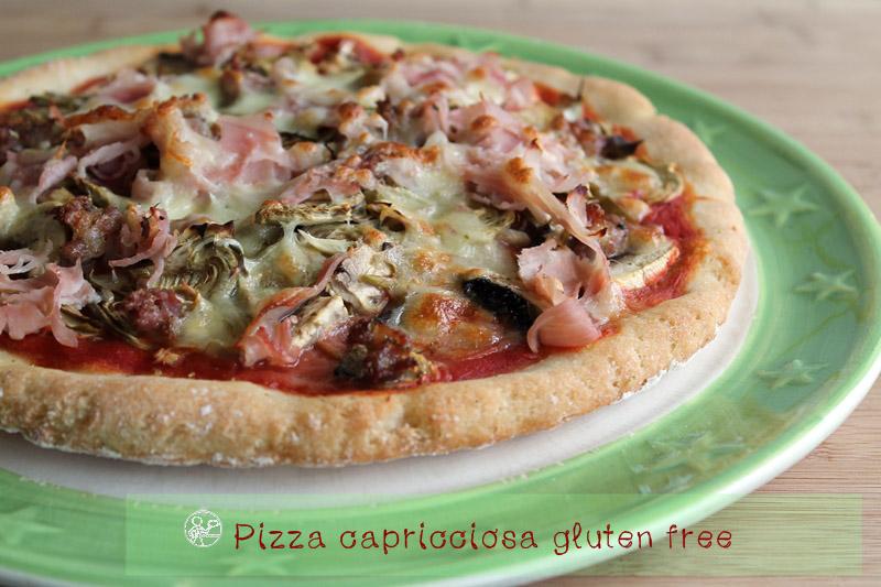 Pizza Capricciosa Gluten Free - La Cassata Celiaca