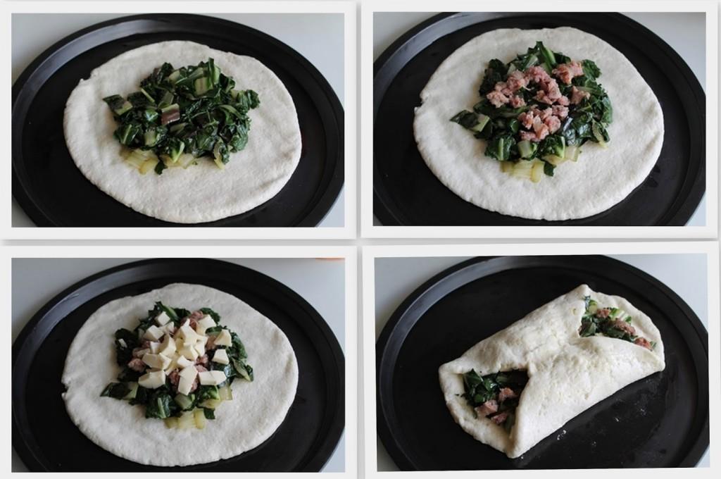 Pizza con bietole e salsiccia (senza glutine) - La Cassata Celiaca