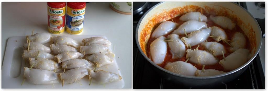 Petits calamars farcis, sans gluten - La Cassata Celiaca