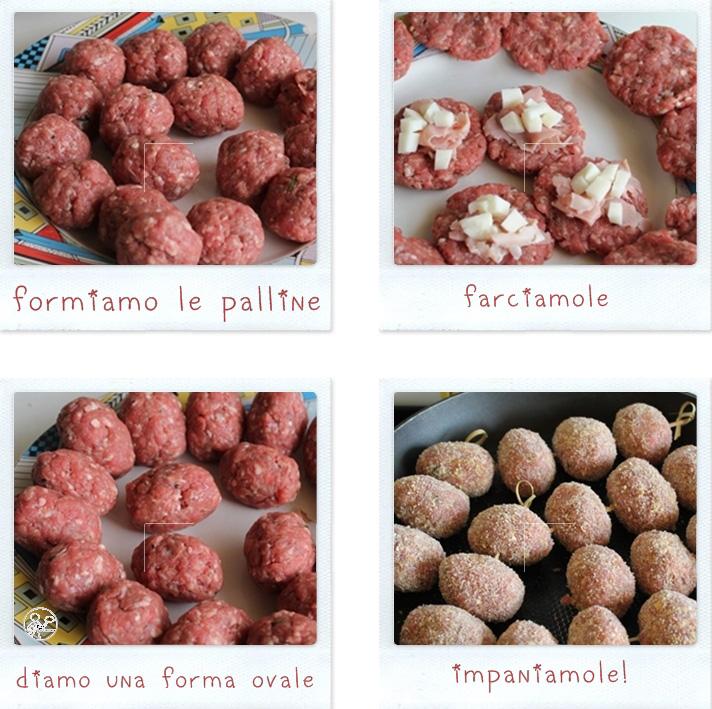 Spiedini di carne con prosciutto e formaggio, senza glutine - La Cassata Celiaca