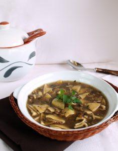 Soupe de pâtes et cèpes sans gluten - La Cassata Celiaca