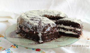 Devil's food cake sans gluten - La Cassata Celiaca