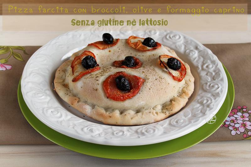Pizza farcie de brocolis, chèvre sans gluten - La Cassata Celiaca