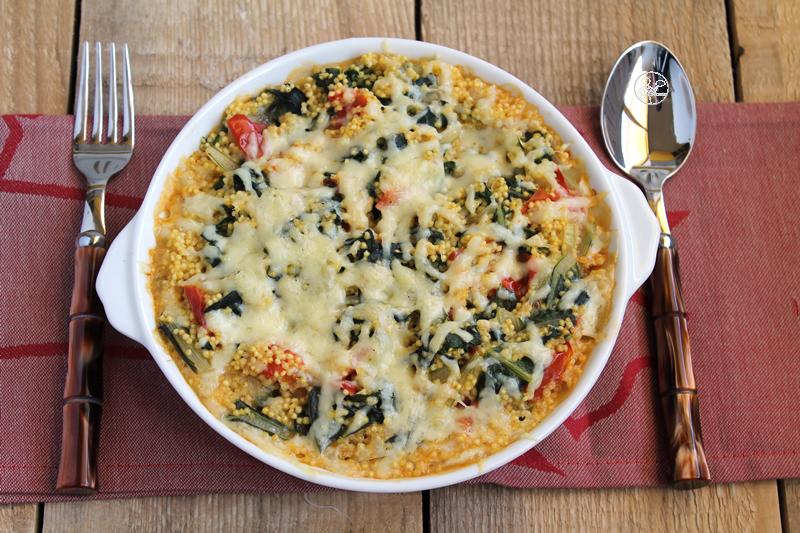 Gratin de millet et blettes, sans gluten - La Cassata Celiaca