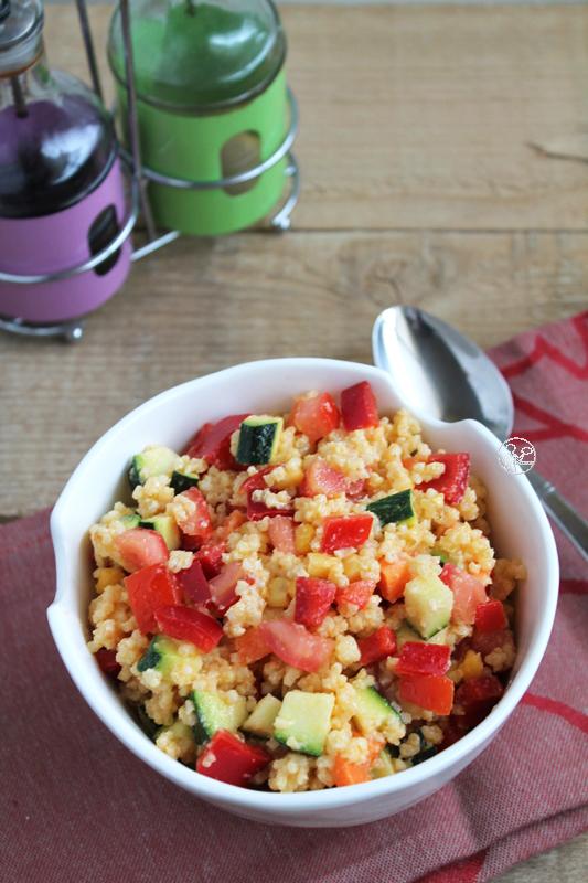 Salade de millet, sans gluten - La Cassata Celiaca
