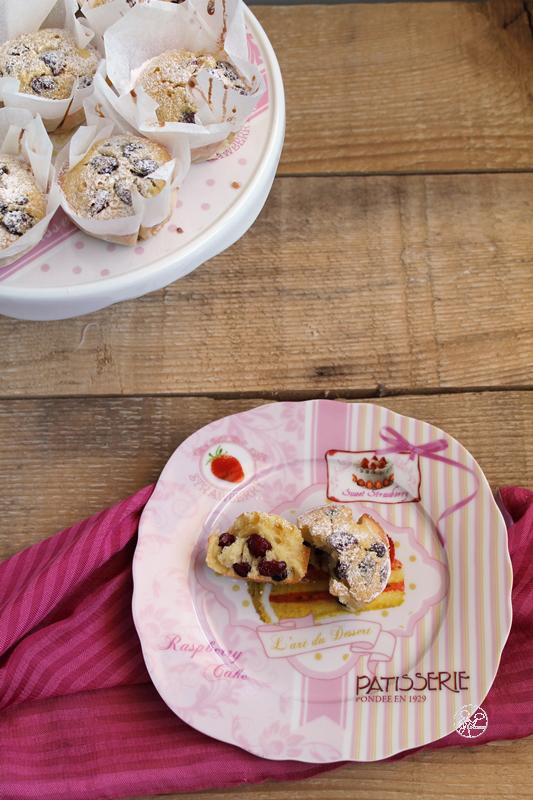Muffins ai mirtilli senza glutine e senza lattosio - La Cassata Celiaca