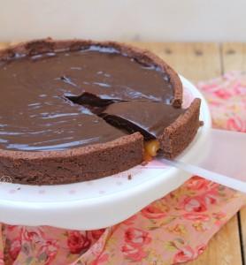 Crostata al caramello e cioccolato, come un Mars gluten free - La Cassata Celiaca