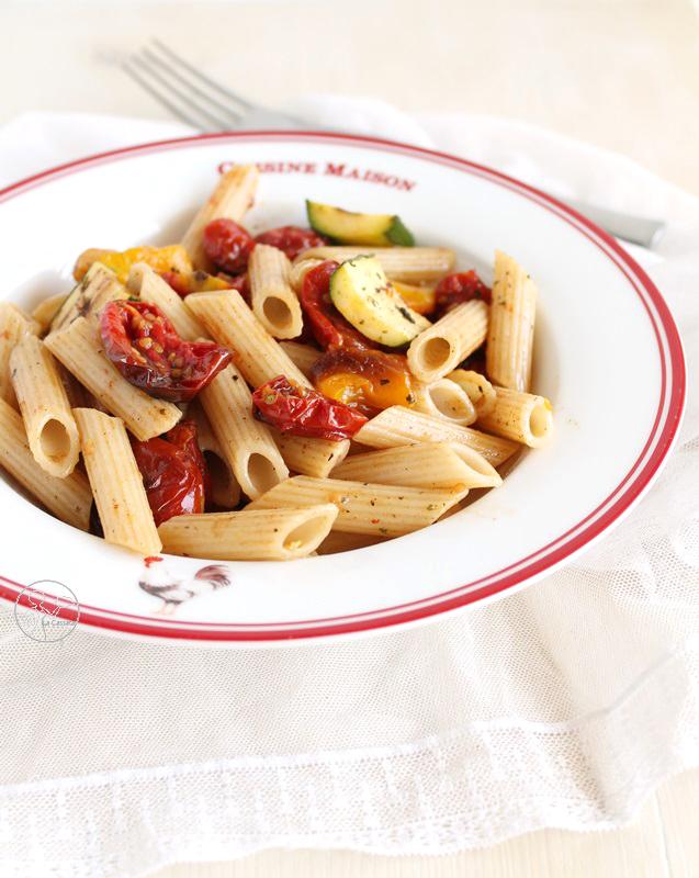 Salade de pâtes sans gluten avec légumes rôtis - La Cassata Celiaca