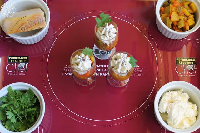 Antipasto di peperoni con crema di formaggio e parmigiano - La Cassata Celiaca
