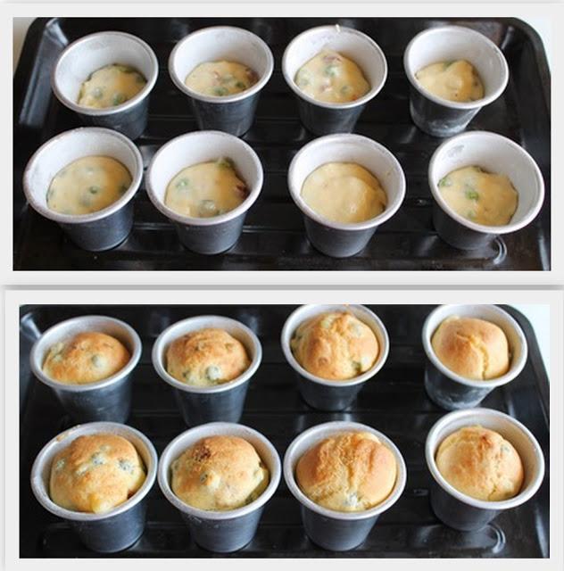 Muffins salati con pisellini e pomodori secchi, senza glutine - La Cassata Celiaca