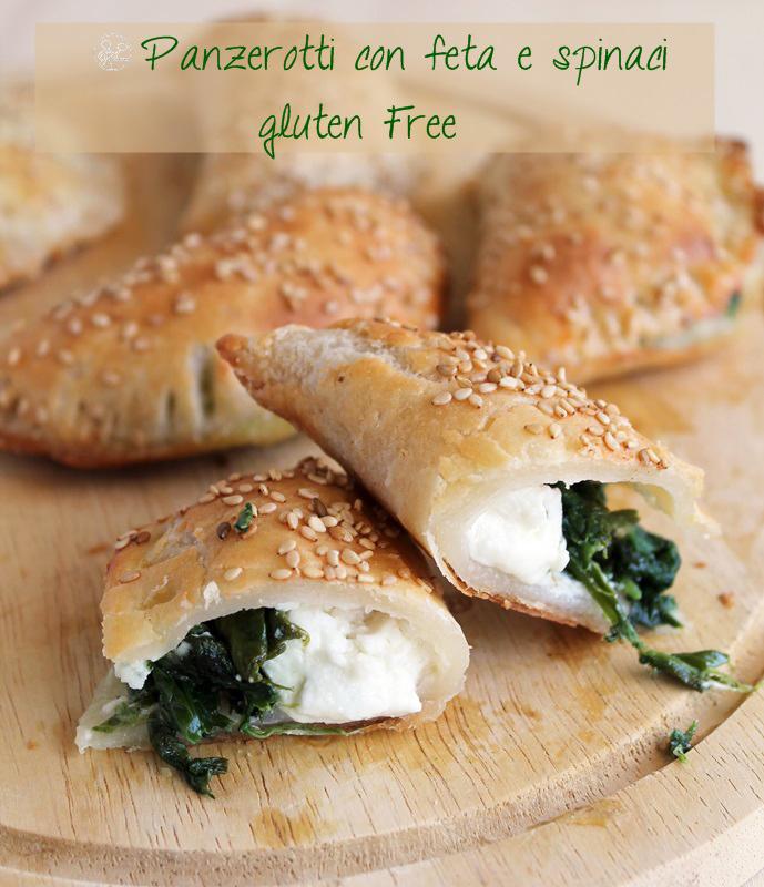 Panzerotti con feta e spinaci senza glutine - La Cassata Celiaca