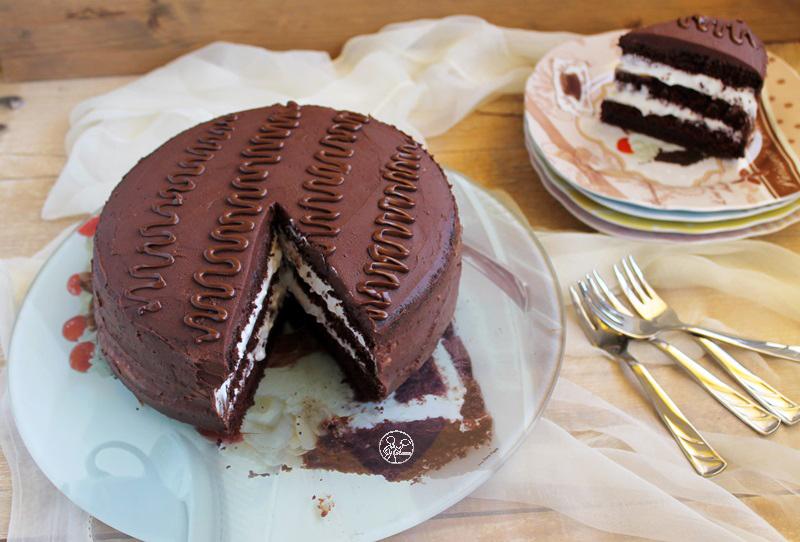 Cake Kinder sans gluten au cacao - La Cassata Celiaca