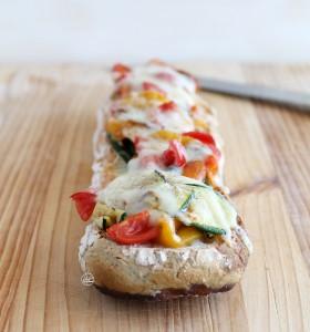 Bruschetta con peperoni e zucchine, senza glutine - La Cassata Celiaca