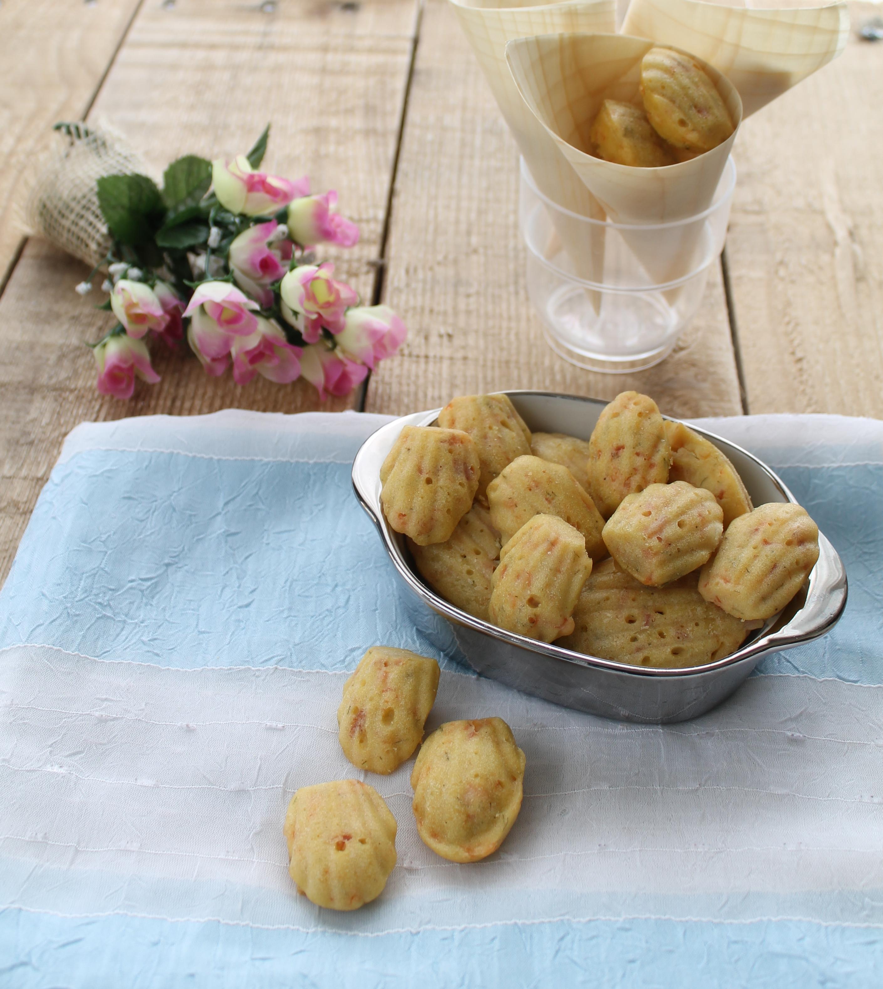 Madeleines au saumon et fenuil sans gluten - La Cassata Celiaca