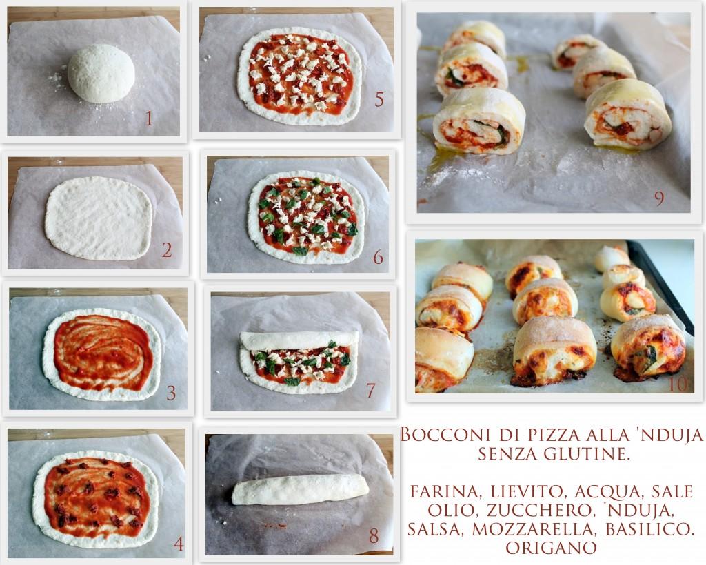 Bocconcini di pizza alla 'nduja senza glutine - La Cassata Celiaca