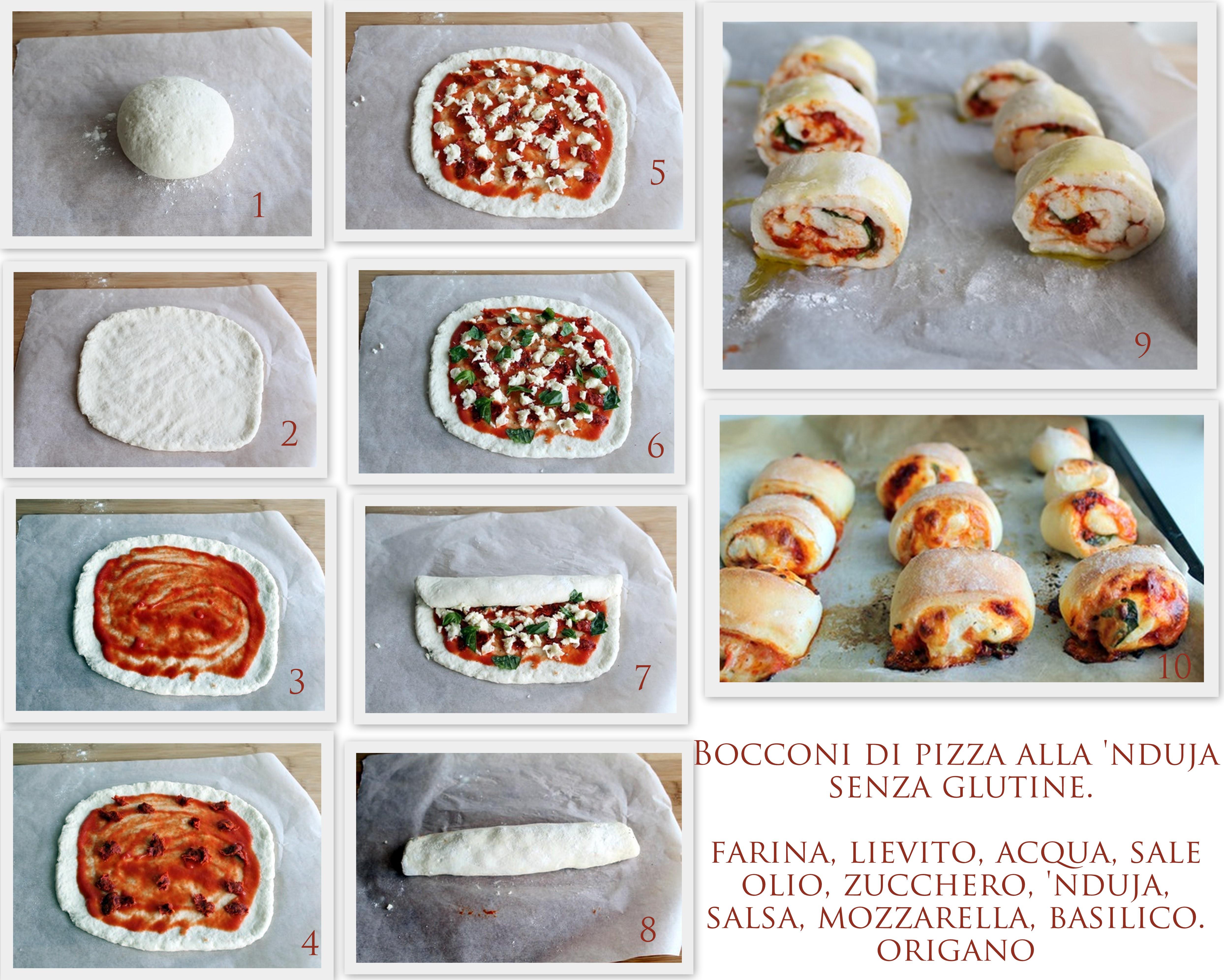 Bouchées de pizza à la 'nduja sans gluten - La Cassata Celiaca