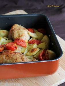 Teglia di pollo, patate e pomodori - La Cassata Celiaca