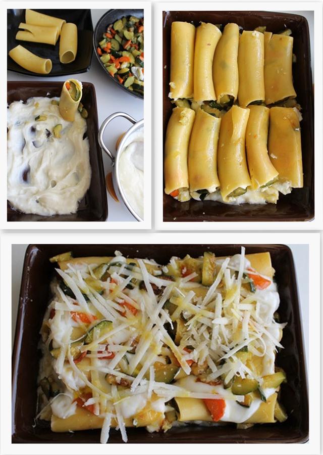 Cannelloni senza glutine con zucchine e carote - La Cassata Celiaca