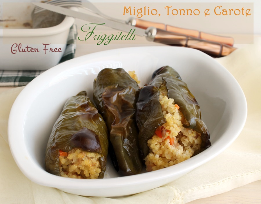 Friggitelli con miglio, tonno e carote senza glutine- La Cassata Celiaca