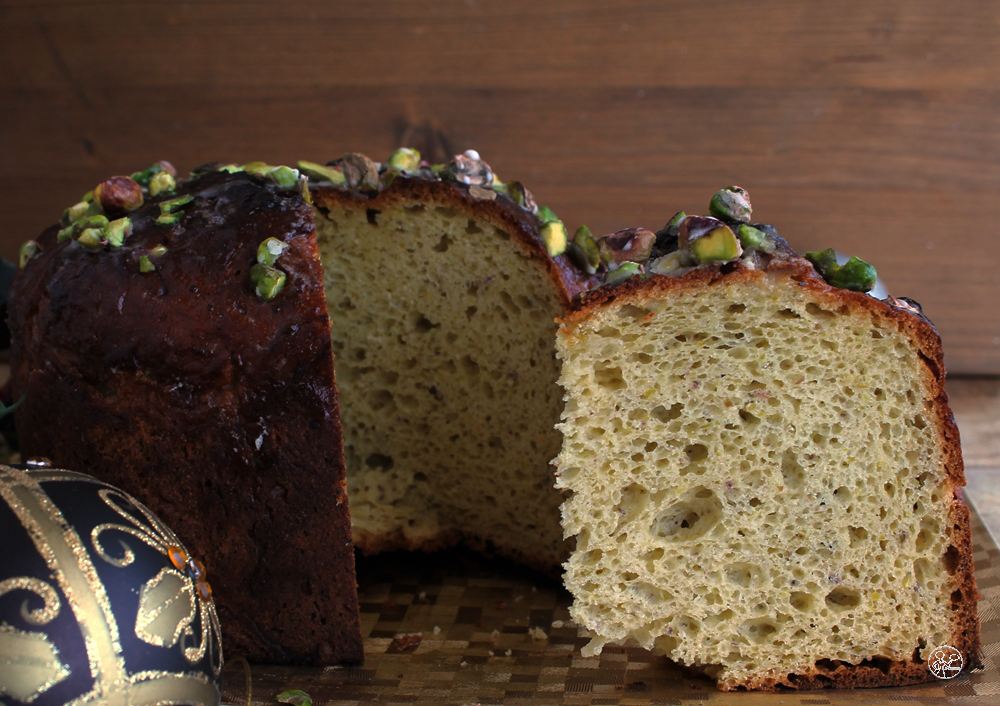 Panettone al pistacchio senza glutine - La Cassata Celiaca
